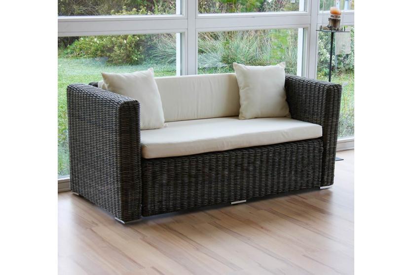 luxus poly rattan sofa garnitur romv 2 2 2 grau rundes. Black Bedroom Furniture Sets. Home Design Ideas