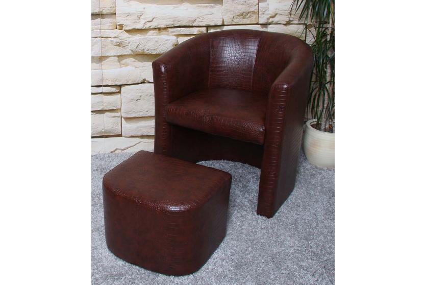 Sessel Mit Hocker Ledersessel Lounge-Sessel M37