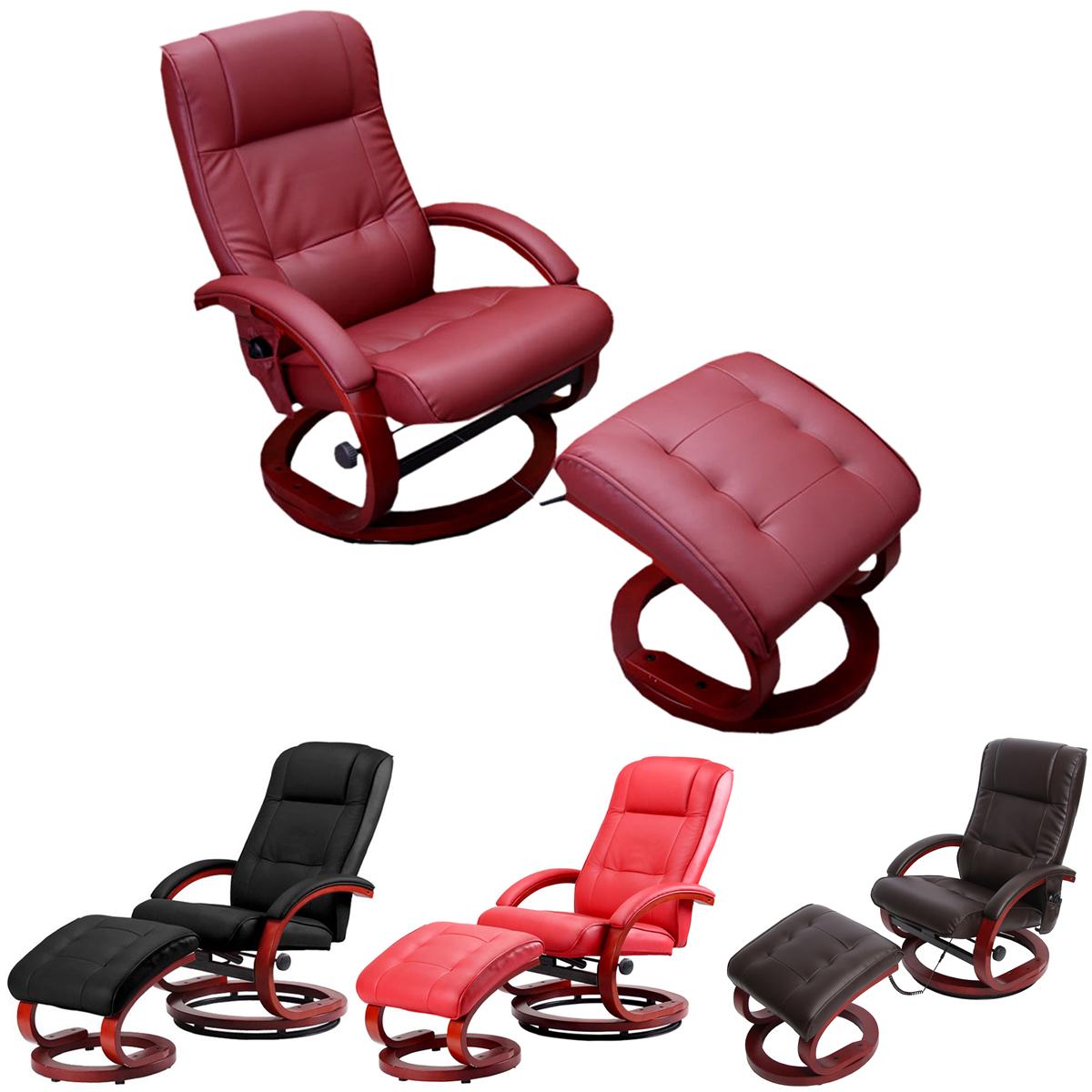 fernsehsessel relaxsessel mit hocker pescatori ii massagefunktion kunstleder ebay. Black Bedroom Furniture Sets. Home Design Ideas