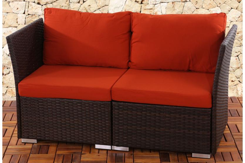 2 sitzer 2er sofa siena poly rattan naturgrau grau anthrazit braun ebay. Black Bedroom Furniture Sets. Home Design Ideas