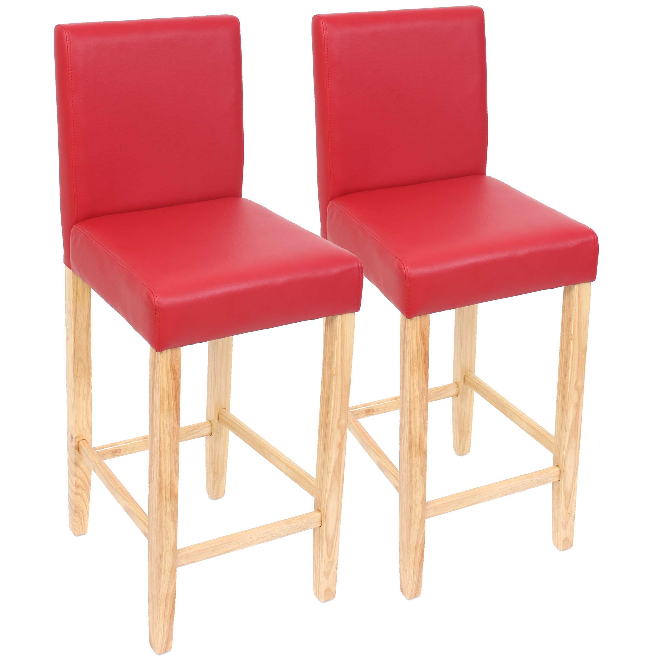 2x barhocker barstuhl tresenhocker bar stuhl m37 leder rot helle f e ebay. Black Bedroom Furniture Sets. Home Design Ideas