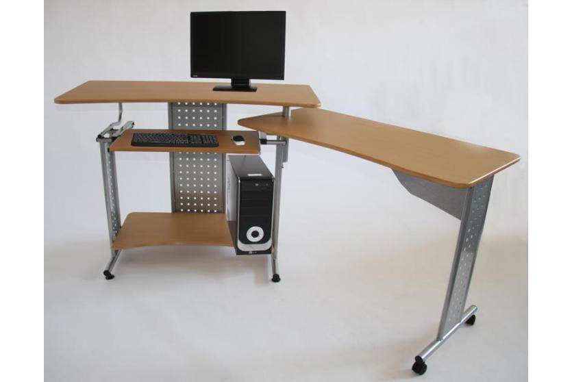 Computertisch schreibtisch pc tisch eckschreibtisch ebay for Schreibtisch dunkelbraun