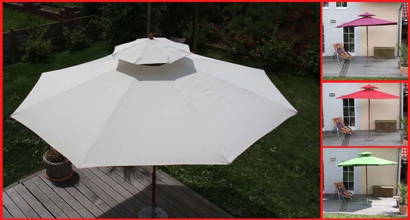 Gut Holz-Sonnenschirm M27 Gartenschirm, 3m oder 3,5m | eBay CW27