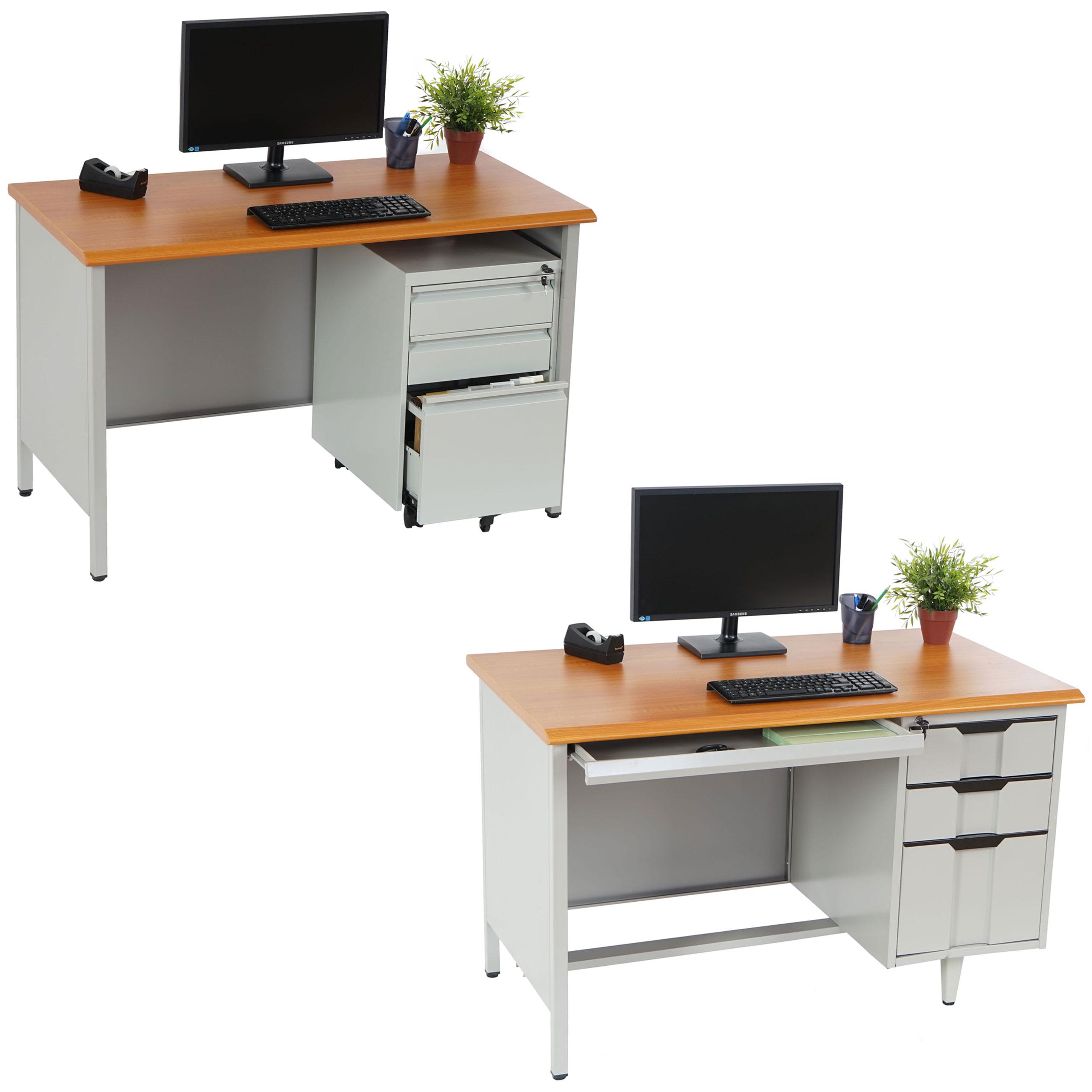 metall schreibtisch boston computertisch arbeitstisch ebay. Black Bedroom Furniture Sets. Home Design Ideas