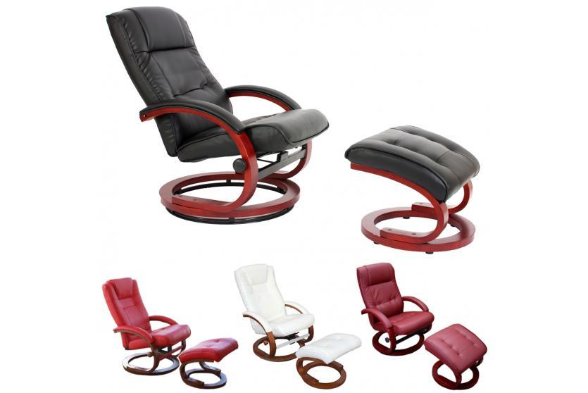 fernsehsessel relaxsessel mit hocker kunstleder. Black Bedroom Furniture Sets. Home Design Ideas