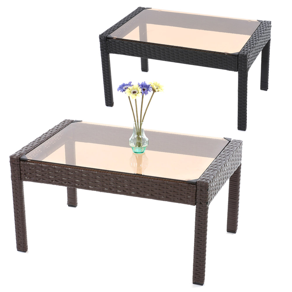 poly rattan gartentisch beistelltisch kaffeetisch tisch. Black Bedroom Furniture Sets. Home Design Ideas