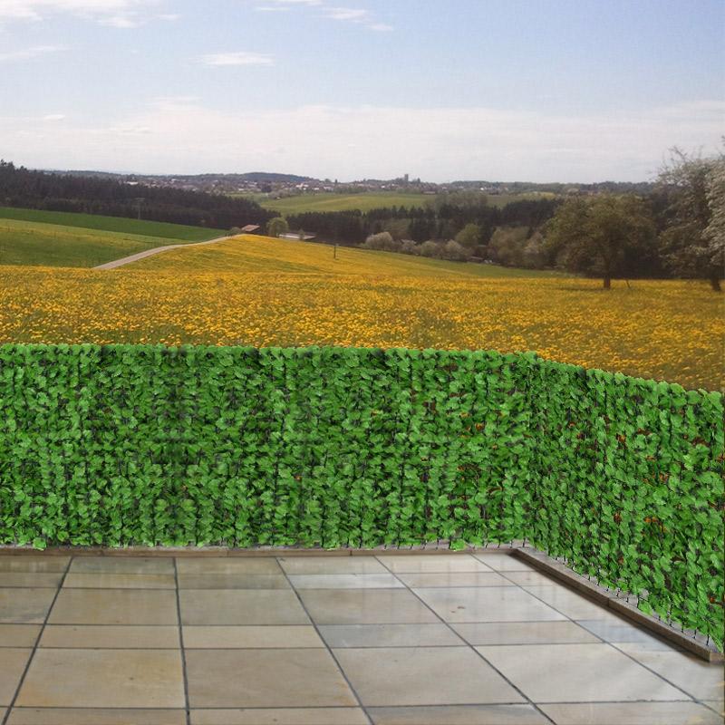sichtschutz windschutz f r balkon terrasse zaun blatt hell 300 x 150 cm ebay. Black Bedroom Furniture Sets. Home Design Ideas