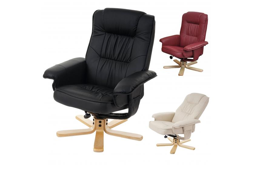 relaxsessel fernsehsessel sessel m56 optional mit oder ohne hocker kunstleder ebay. Black Bedroom Furniture Sets. Home Design Ideas