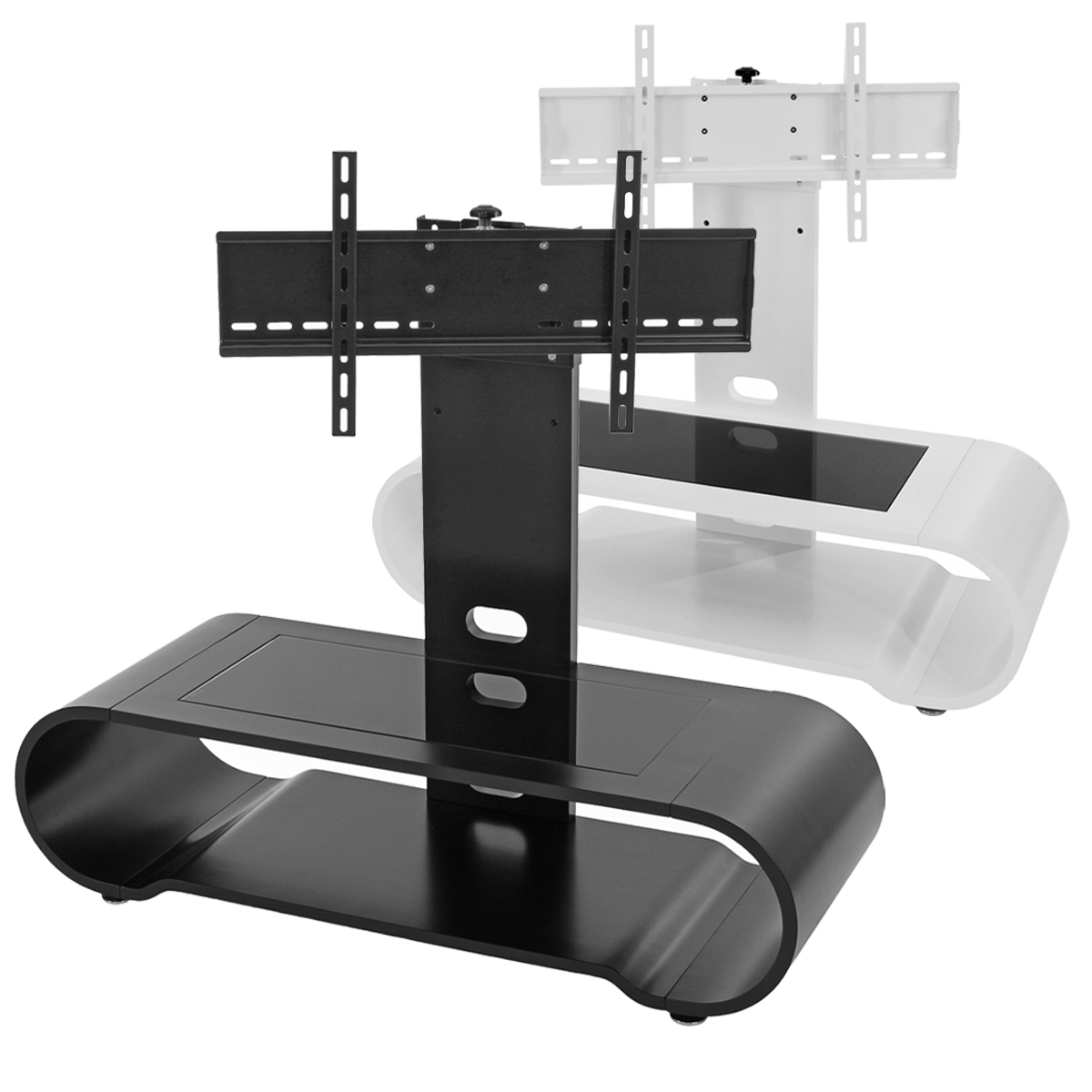 Tv rack fernsehtisch mit tv s ulensystem lowboard tucson for Fernsehtisch design