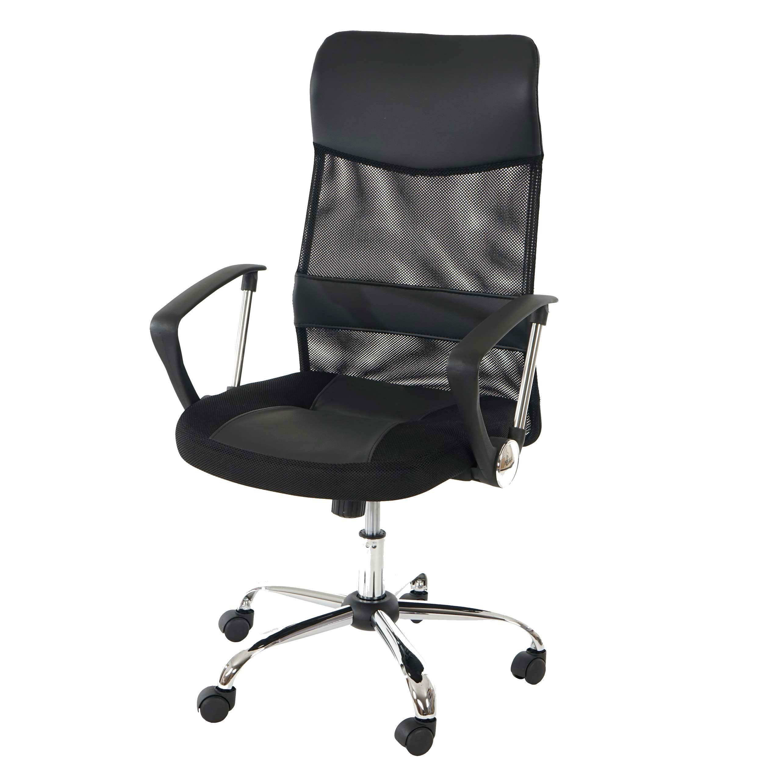 drehstuhl b rostuhl schreibtischstuhl oslo schwarz pu breite st tze ebay. Black Bedroom Furniture Sets. Home Design Ideas