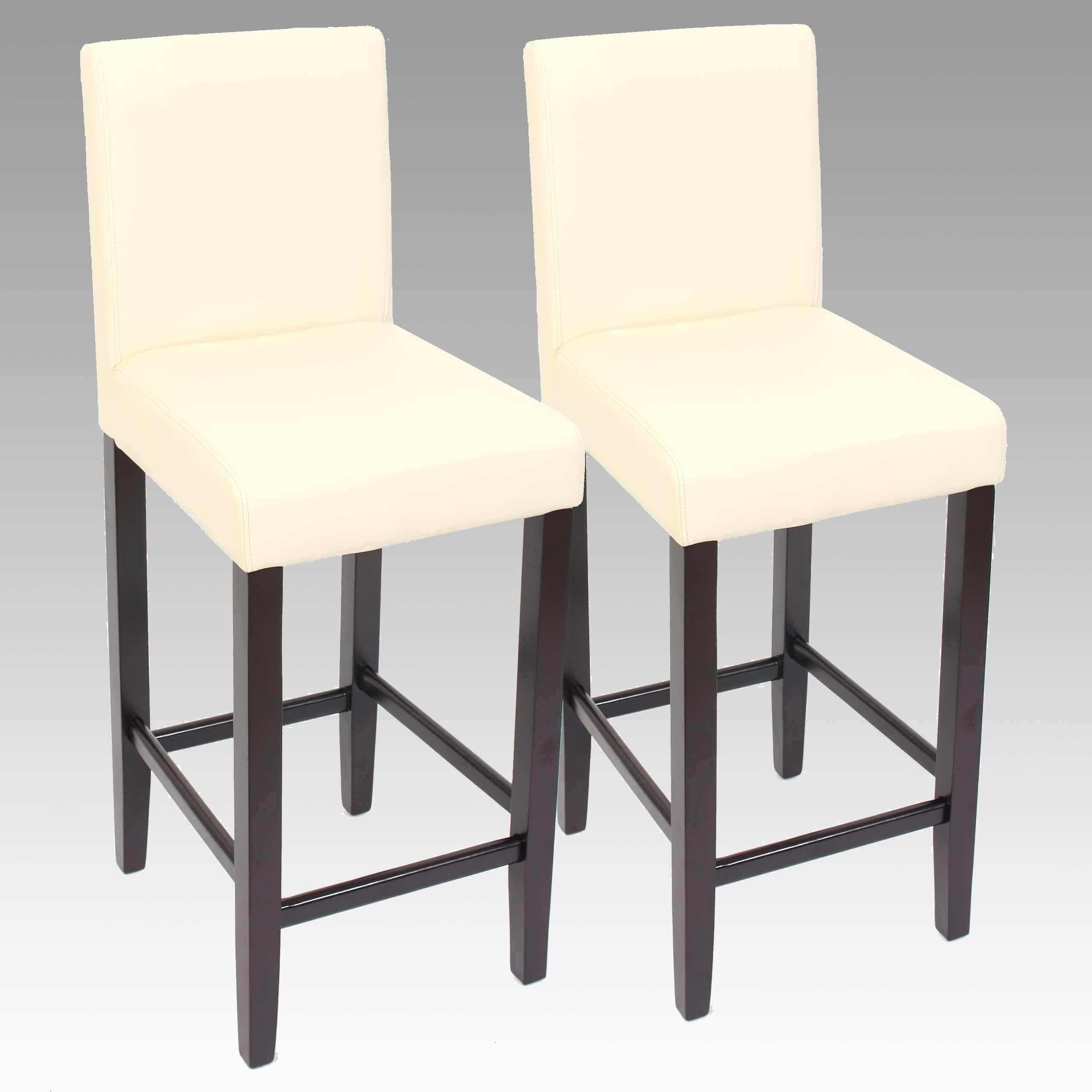 2x barhocker barstuhl tresenhocker bar stuhl m37 leder creme dunkle f e ebay. Black Bedroom Furniture Sets. Home Design Ideas