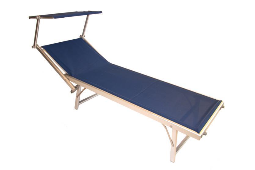 alu liege sonnenliege strandliege mit sonnendach creme rot gr n blau orange ebay. Black Bedroom Furniture Sets. Home Design Ideas
