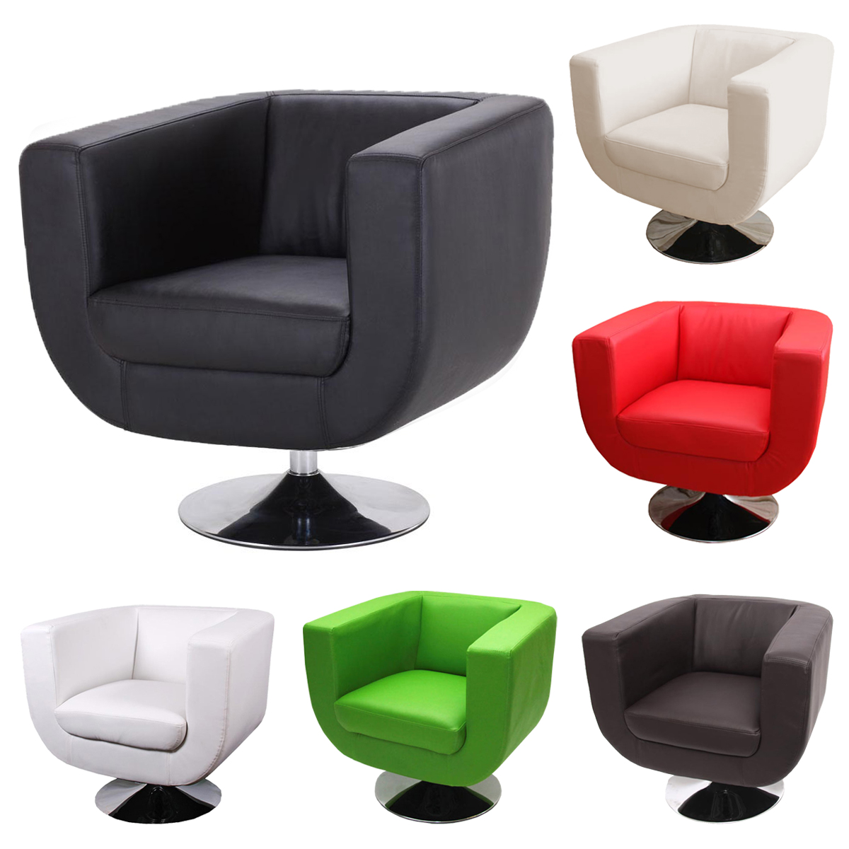 Lounge sessel sessel club sessel treviso schwarz creme for Design club sessel