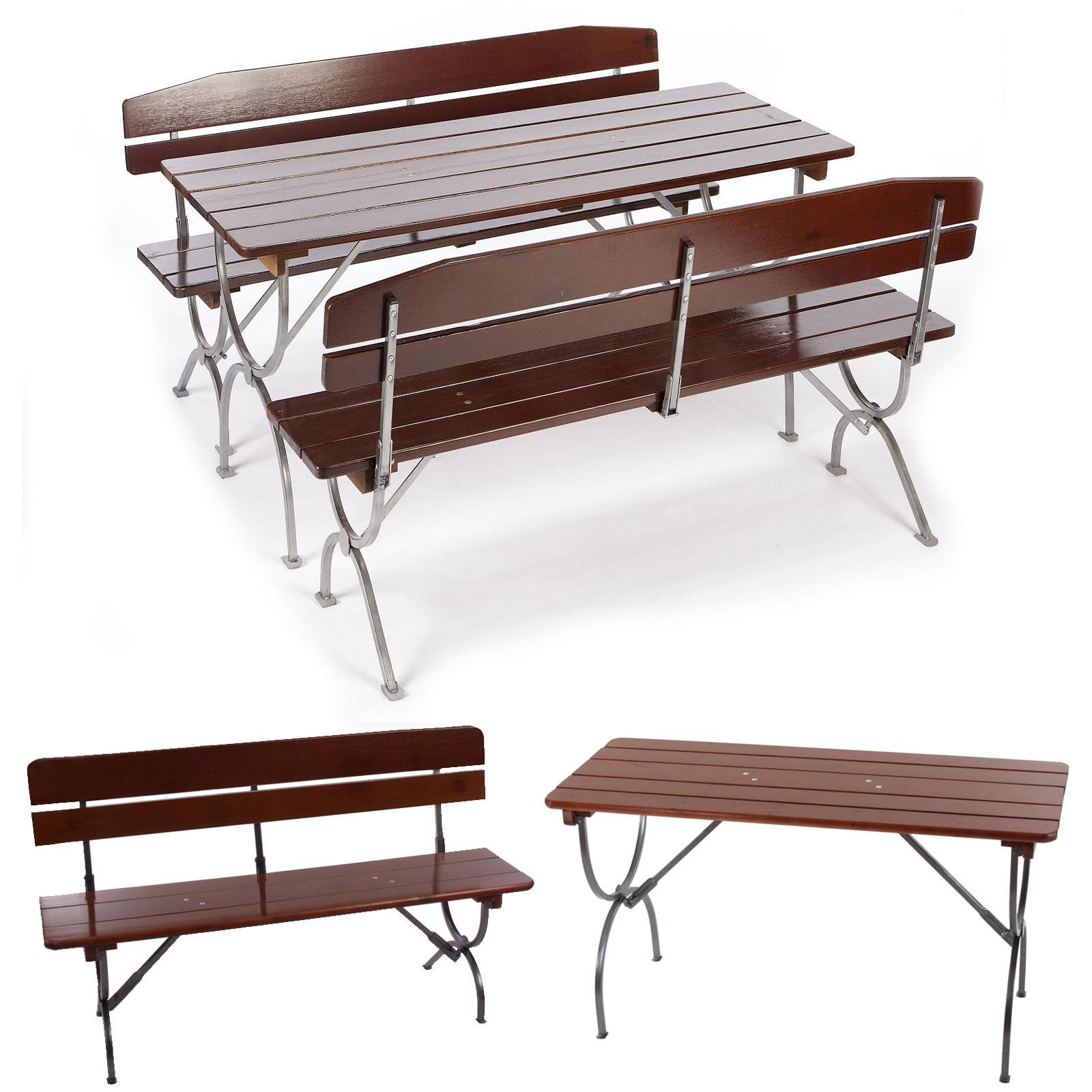 gastronomie bierzeltgarnitur linz 2x bank mit lehne tisch 150 180cm ebay. Black Bedroom Furniture Sets. Home Design Ideas