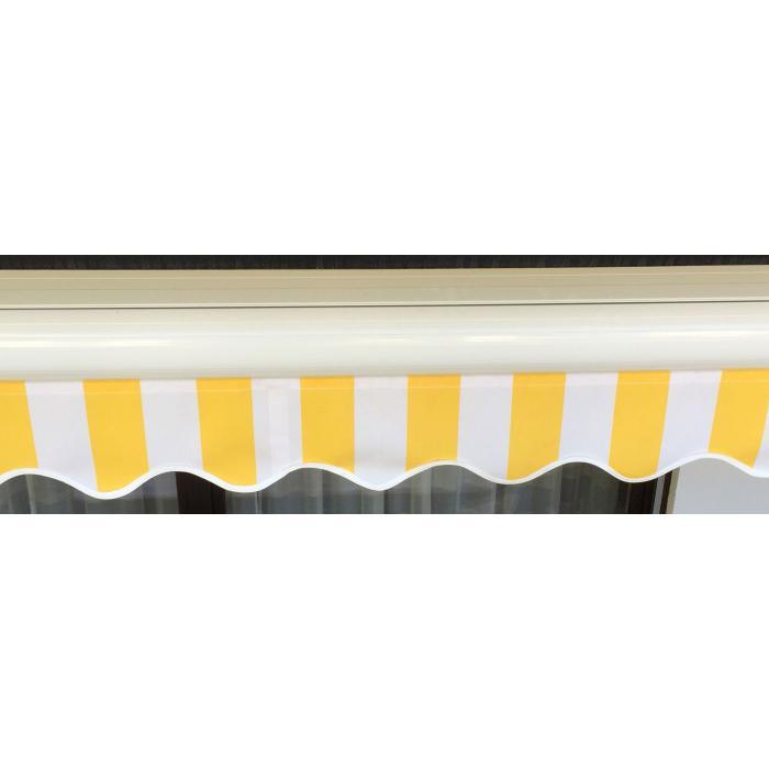 elektrische kassetten markise t124 vollkassette volant 5x3m polyester creme. Black Bedroom Furniture Sets. Home Design Ideas