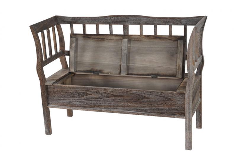 sitzbank t207 bank truhenbank staufach kissen braun. Black Bedroom Furniture Sets. Home Design Ideas