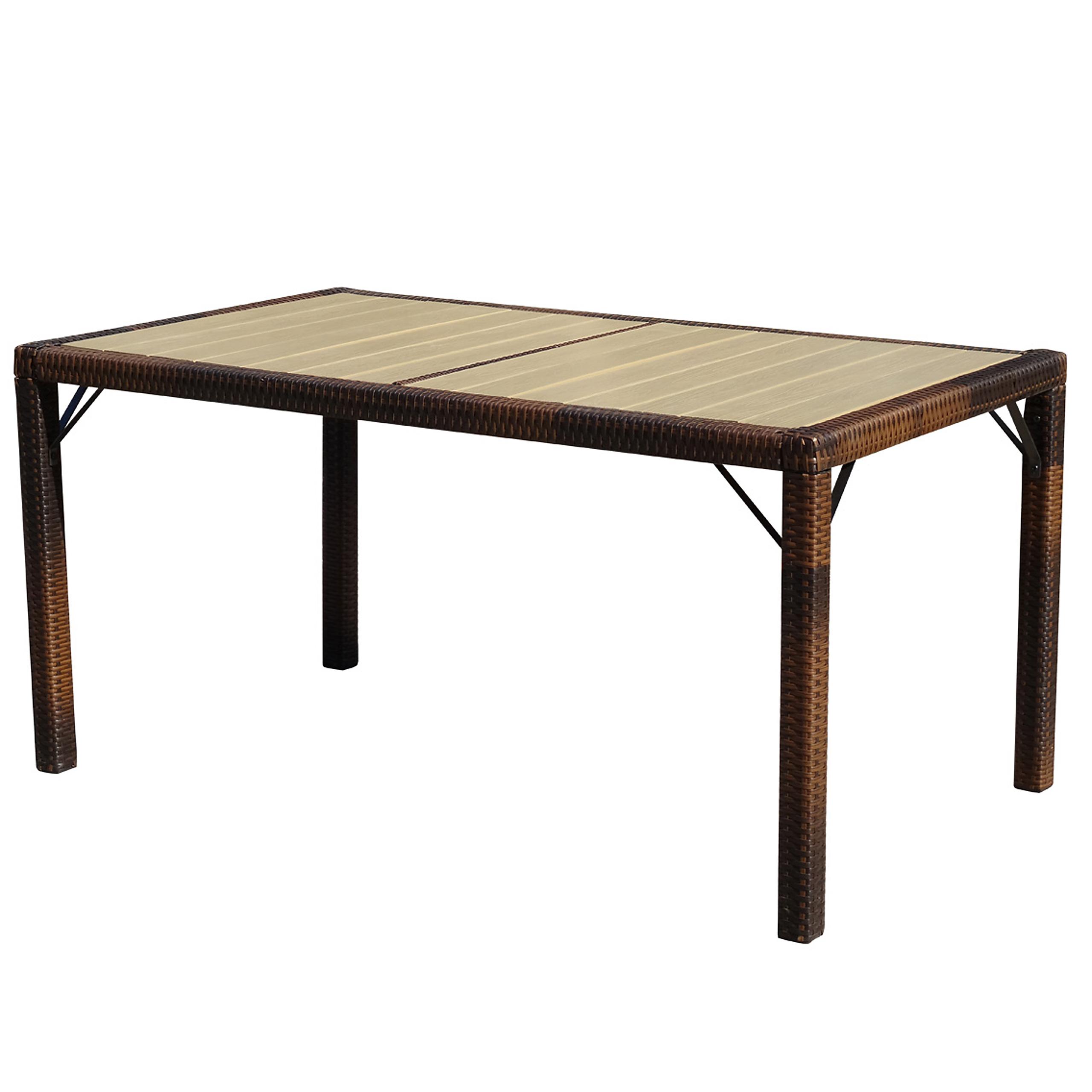 poly rattan gartentisch damiette tisch esszimmertisch. Black Bedroom Furniture Sets. Home Design Ideas