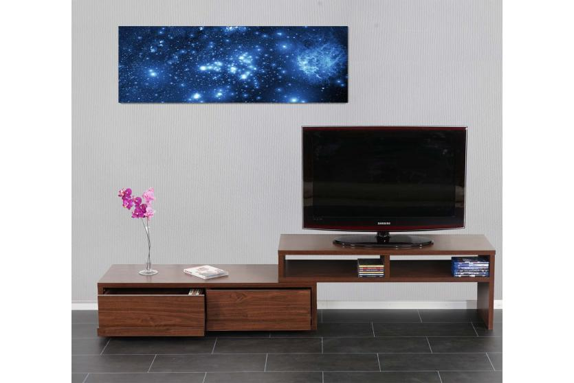 led bild mit beleuchtung leinwandbild timer 120x40cm sternenhimmel ebay. Black Bedroom Furniture Sets. Home Design Ideas