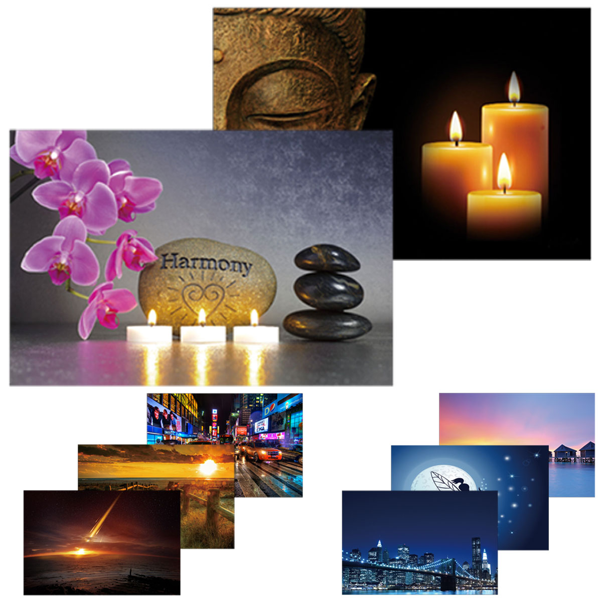 2x led bild mit beleuchtung leinwandbild leuchtbild. Black Bedroom Furniture Sets. Home Design Ideas