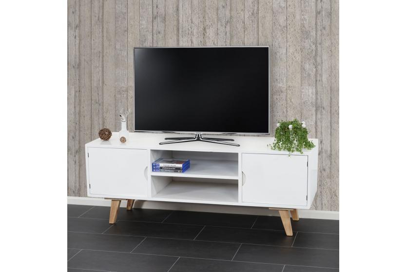 Tv rack malm t256 lowboard fernsehtisch retro design - Lowboard skandinavisches design ...