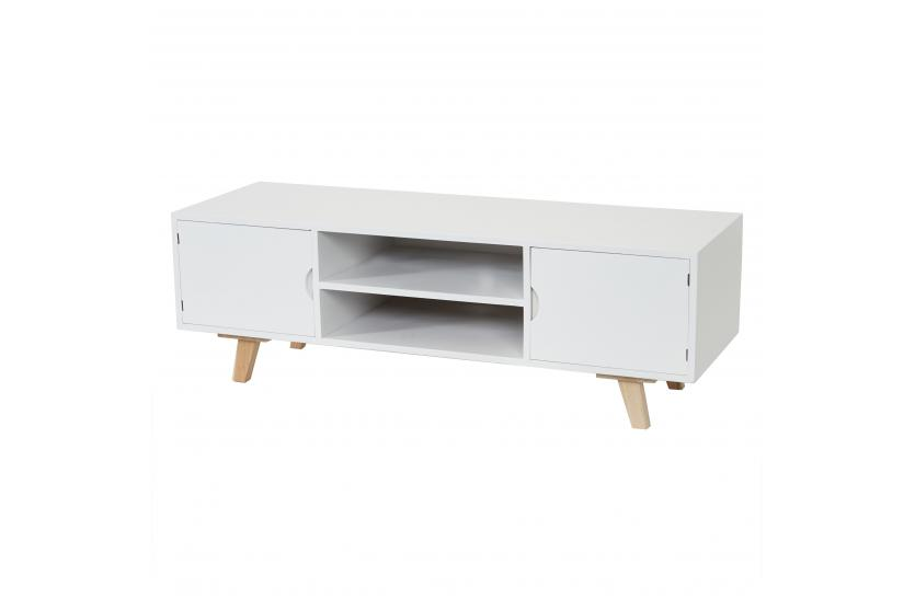 lowboard malm t256 tv rack fernsehtisch dise o retro 40x120x40cm blanco azul ebay. Black Bedroom Furniture Sets. Home Design Ideas