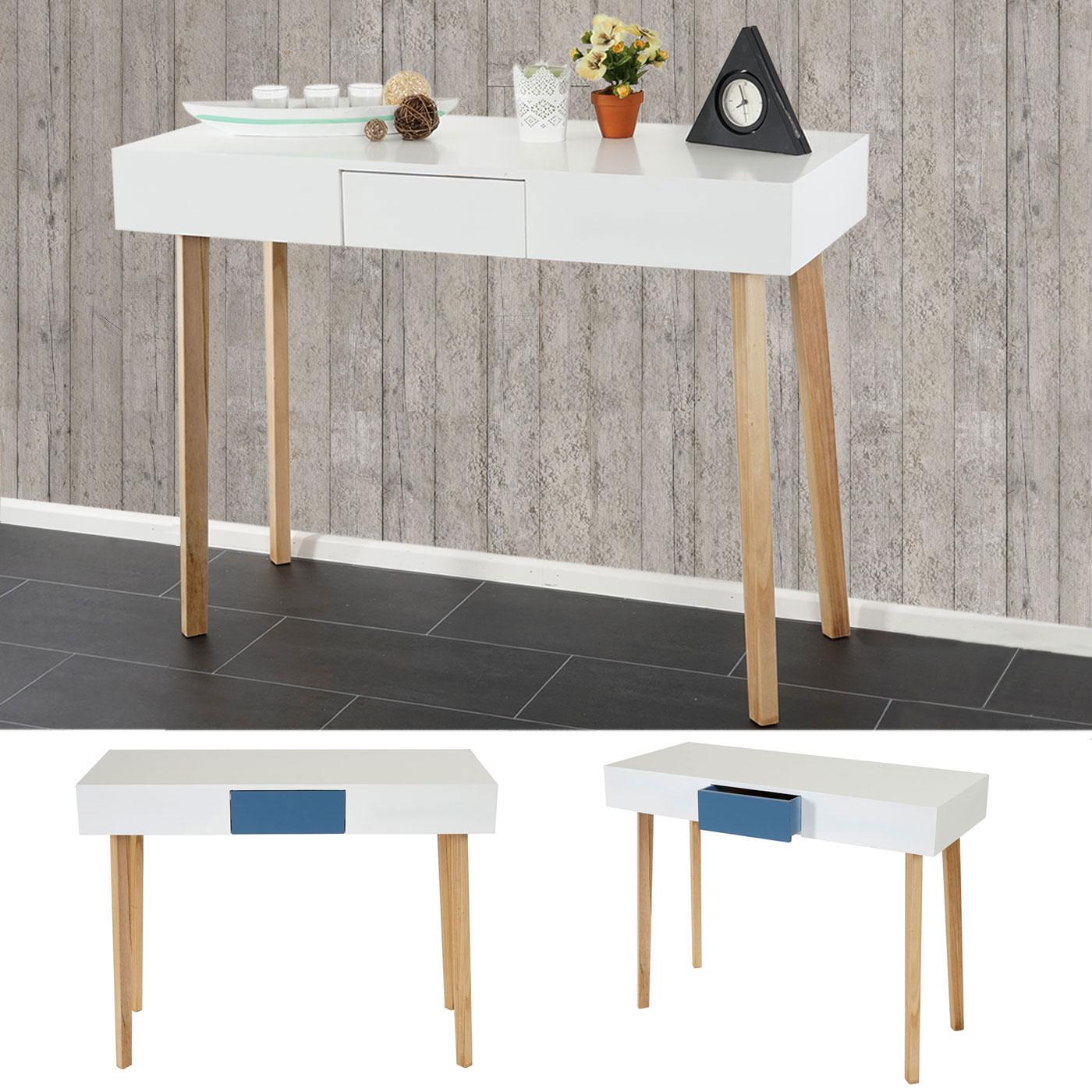 kommode malm t268 beistelltisch schrank retro design 83x105x45cm blau wei ebay. Black Bedroom Furniture Sets. Home Design Ideas