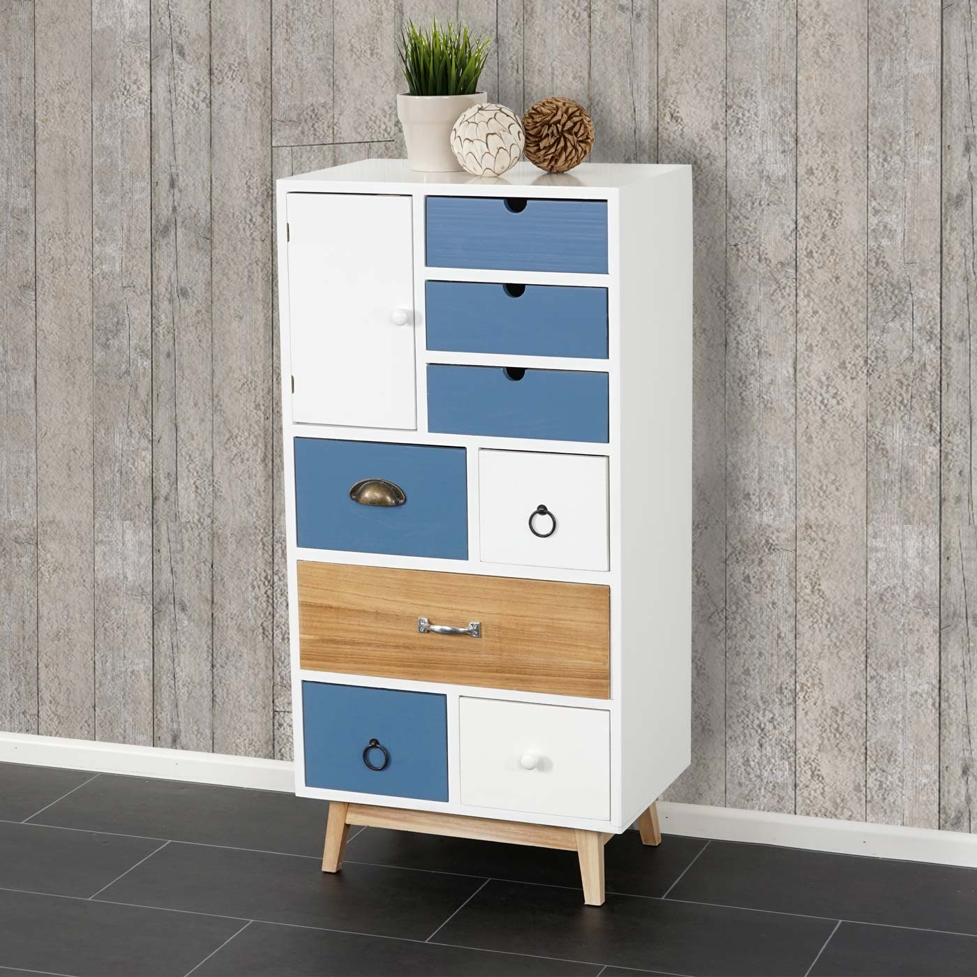 kommode malm t272 schubladenkommode schrank patchwork retro design 98x48x32cm ebay. Black Bedroom Furniture Sets. Home Design Ideas