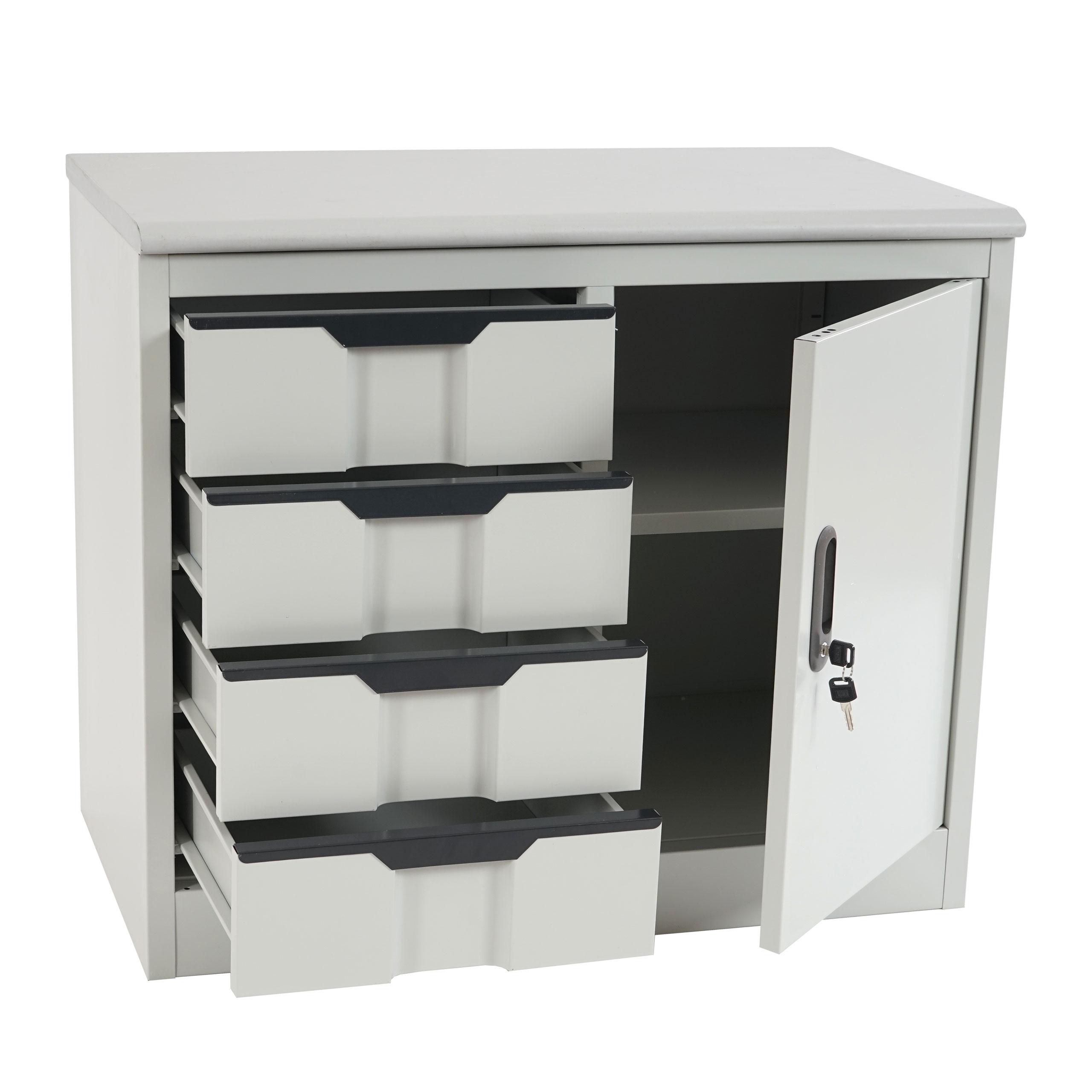 aktenschrank preston t310 b roschrank metallschrank 4 schubladen 70x80x42cm ebay. Black Bedroom Furniture Sets. Home Design Ideas
