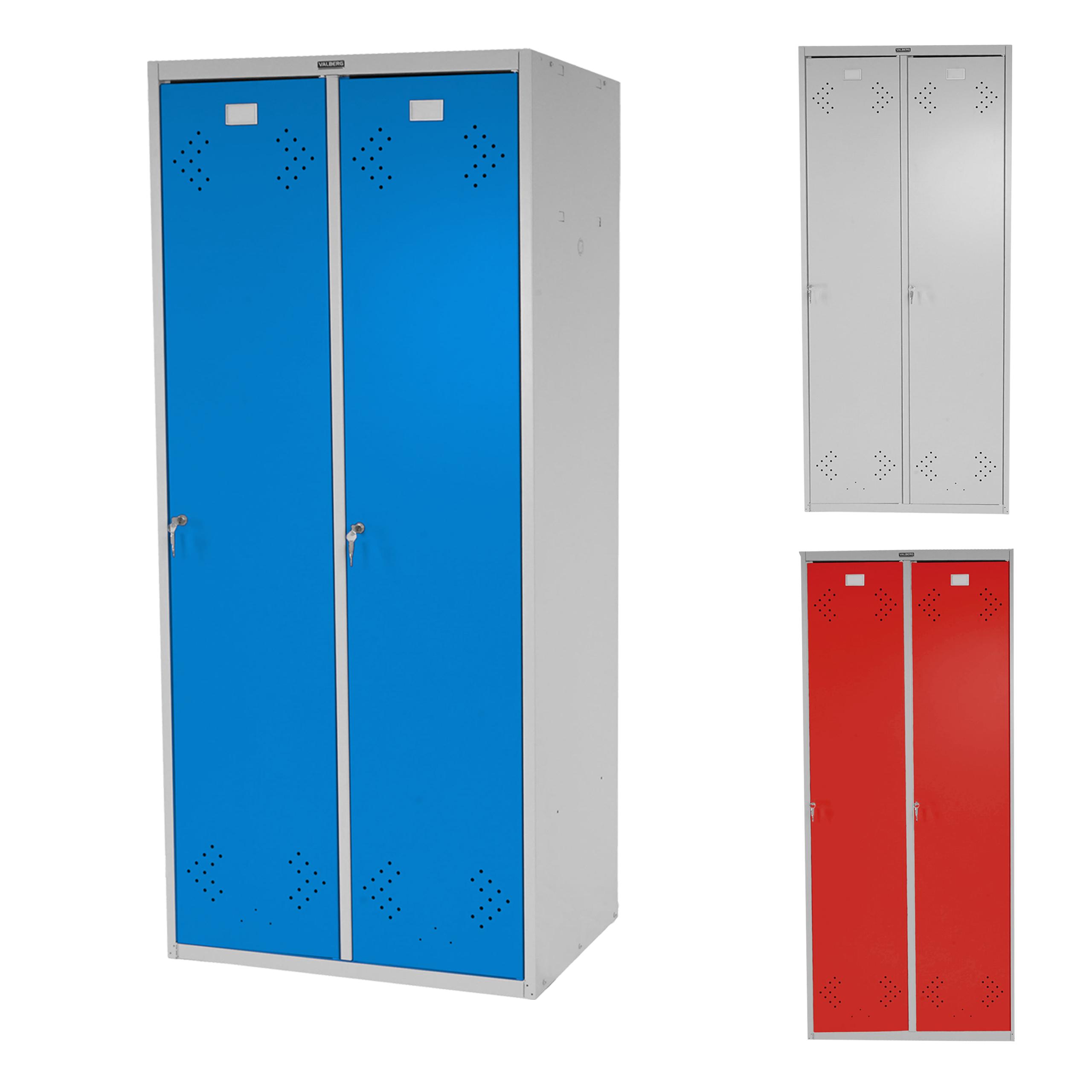 doppelspind valberg t338 kleiderspind metallspind 183x81x50cm nach asr ebay. Black Bedroom Furniture Sets. Home Design Ideas