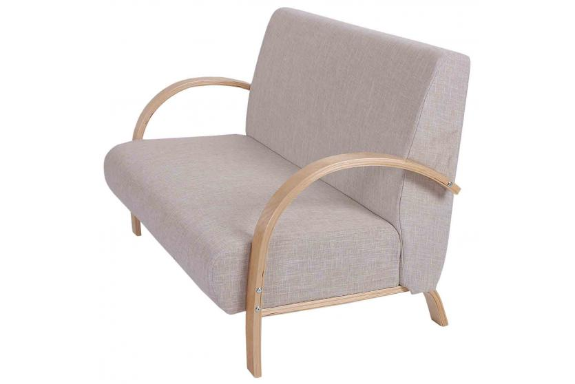 2er sofa vaasa loungesofa couch 78x126x80cm leinen beige ebay. Black Bedroom Furniture Sets. Home Design Ideas