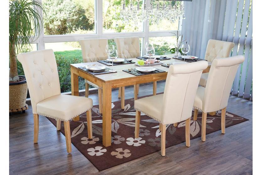 6x esszimmerstuhl chesterfield ii stuhl lehnstuhl mit nieten kunstleder. Black Bedroom Furniture Sets. Home Design Ideas