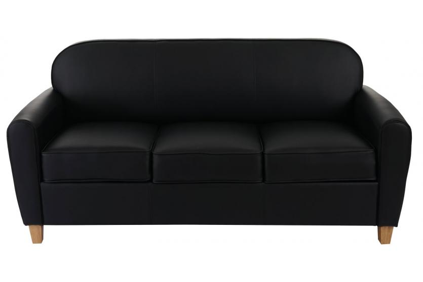 3er sofa malm t377 loungesofa couch retro 50er jahre design schwarz kunstleder. Black Bedroom Furniture Sets. Home Design Ideas