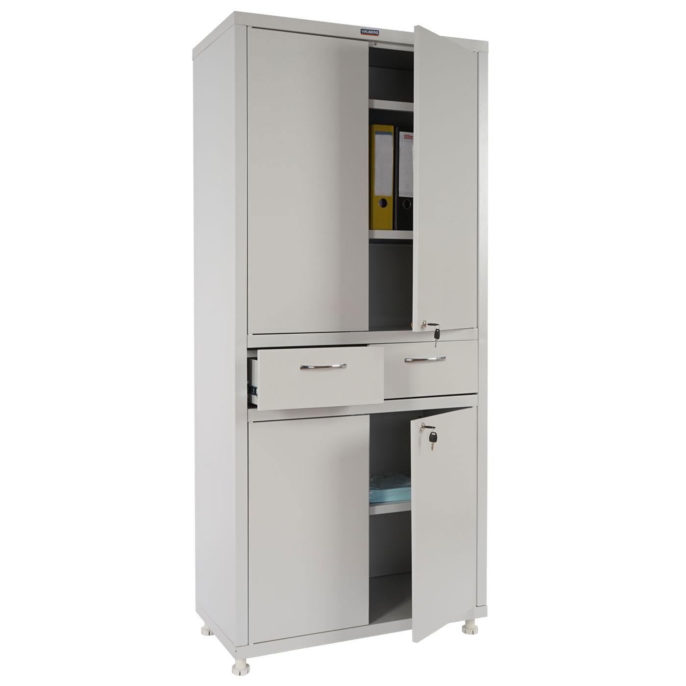 metallschrank valberg t380 aktenschrank b ro 4 t ren 2 schubladen 180x80x40cm ebay. Black Bedroom Furniture Sets. Home Design Ideas