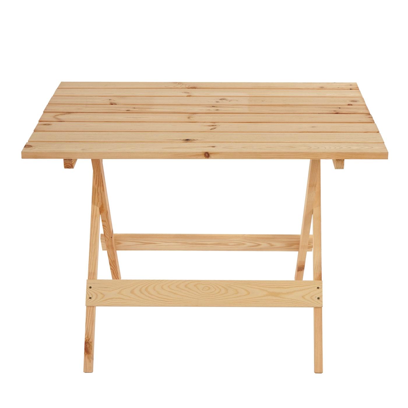 Gartentisch Holz Unbehandelt ~ Holztisch Barcelona, Klapptisch Gartentisch 100x74x71cm, massiv natur