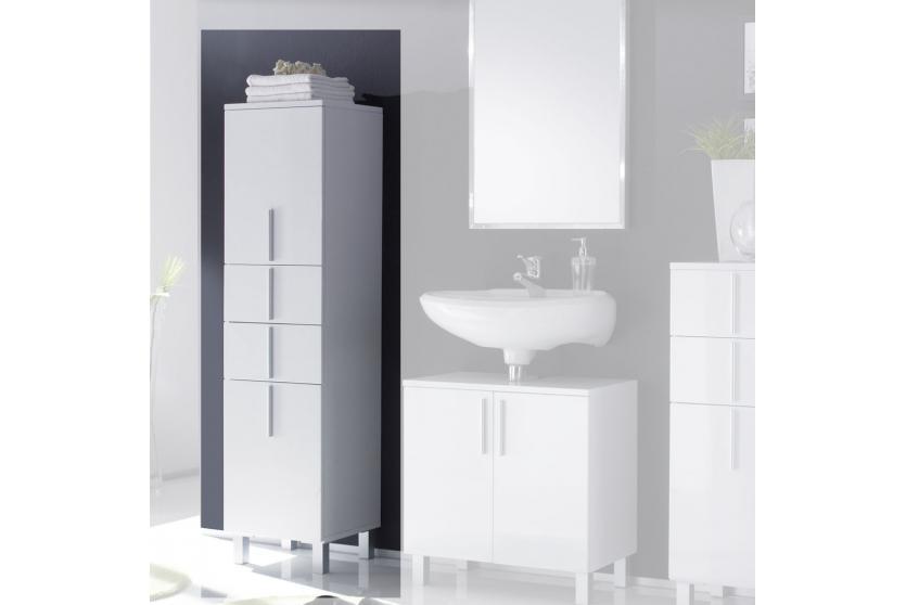 hochschrank schrank hochglanz badschrank badezimmerschrank umea 37x35x145 cm ebay. Black Bedroom Furniture Sets. Home Design Ideas