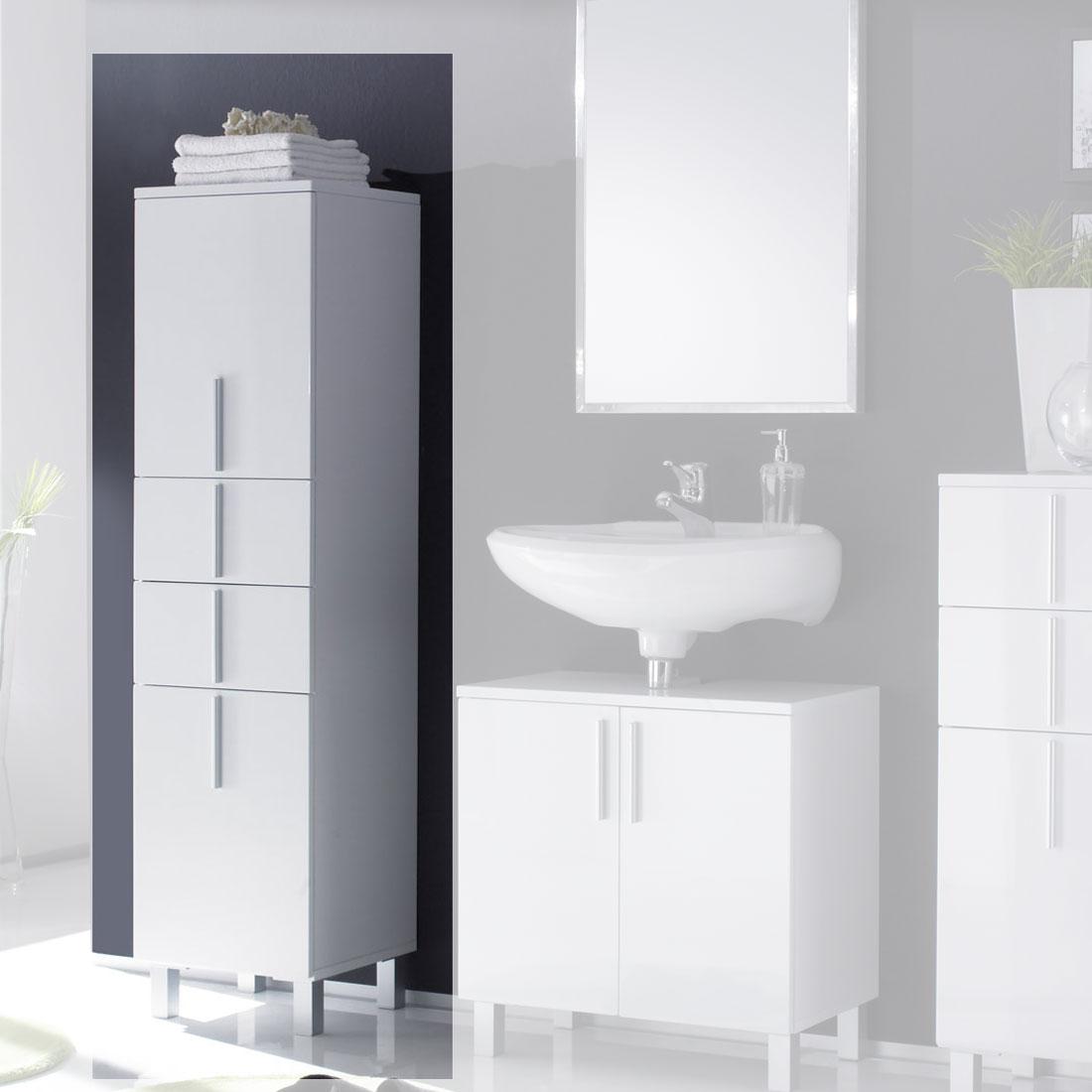 badschrank hoch off happyhome hoch holzfarbe wei xx cm. Black Bedroom Furniture Sets. Home Design Ideas