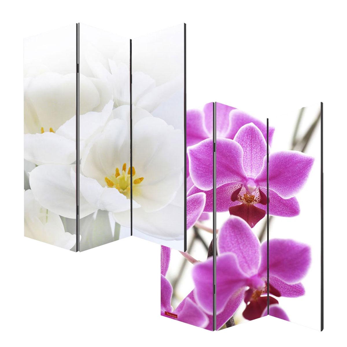 Foto paravent paravent raumteiler m68 3 panels 180x120cm for Raumteiler stoff