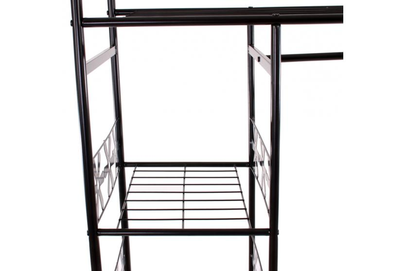metall garderobe genf garderobenst nder kleiderschrank metallregal 172x100x43cm ebay. Black Bedroom Furniture Sets. Home Design Ideas