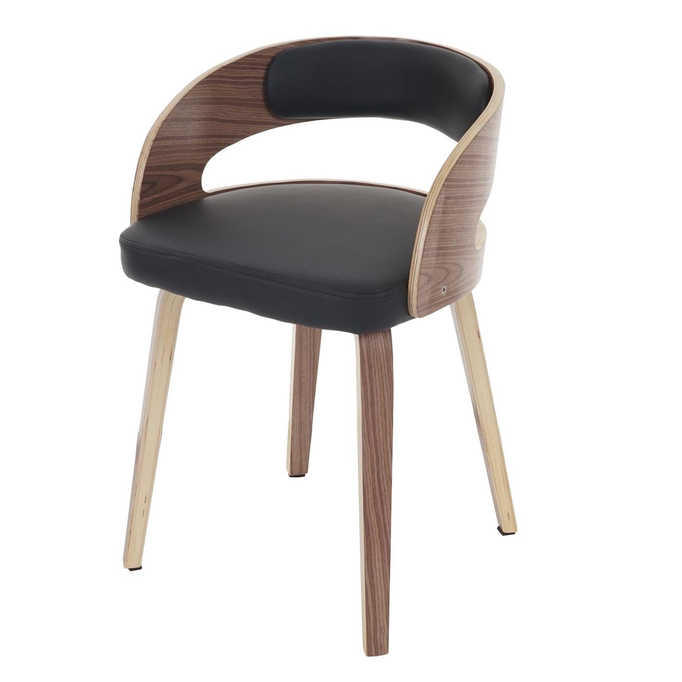 besucherstuhl pula stuhl bugholz holz retro schwarz. Black Bedroom Furniture Sets. Home Design Ideas
