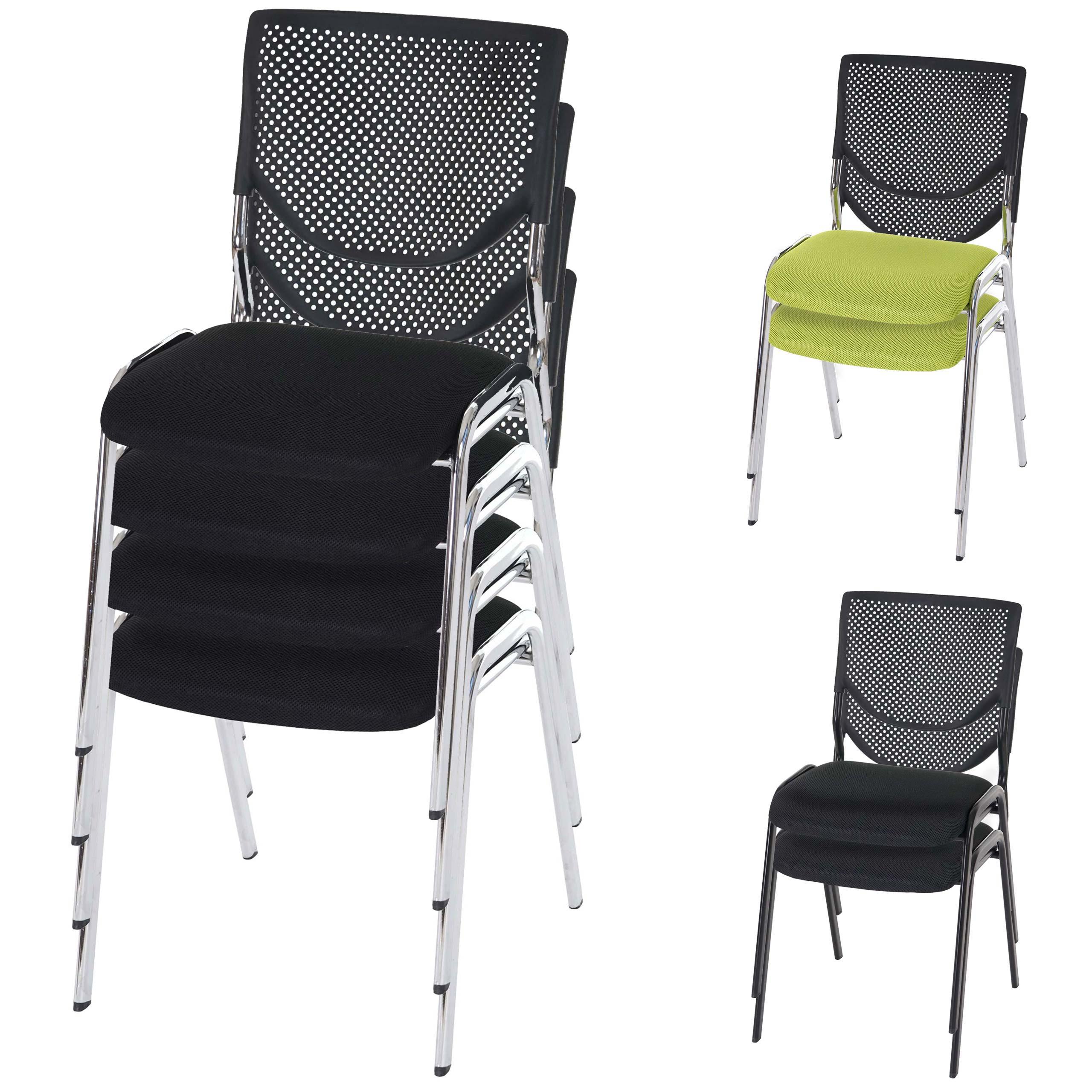 2x oder 4x besucherstuhl t401 konferenzstuhl stapelbar textil ebay. Black Bedroom Furniture Sets. Home Design Ideas