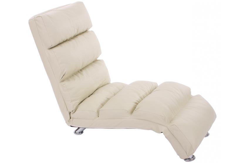 ... Relaxliege Relaxsessel Chaiselongue Mallorca Leder ~ Schwarz ...