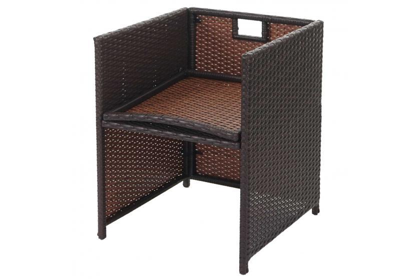 poly rattan garten garnitur korfu lounge set 12 pl tze braun kissen beige ebay. Black Bedroom Furniture Sets. Home Design Ideas