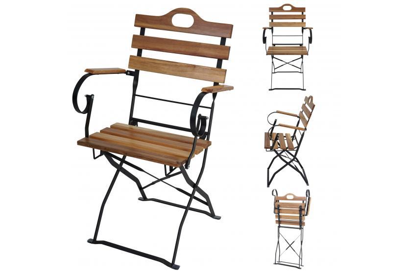 4x biergartenstuhl wien klappstuhl gartenstuhl akazie ge lt natur ebay. Black Bedroom Furniture Sets. Home Design Ideas