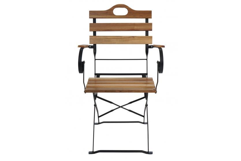 4x biergartenstuhl wien klappstuhl gartenstuhl akazie. Black Bedroom Furniture Sets. Home Design Ideas