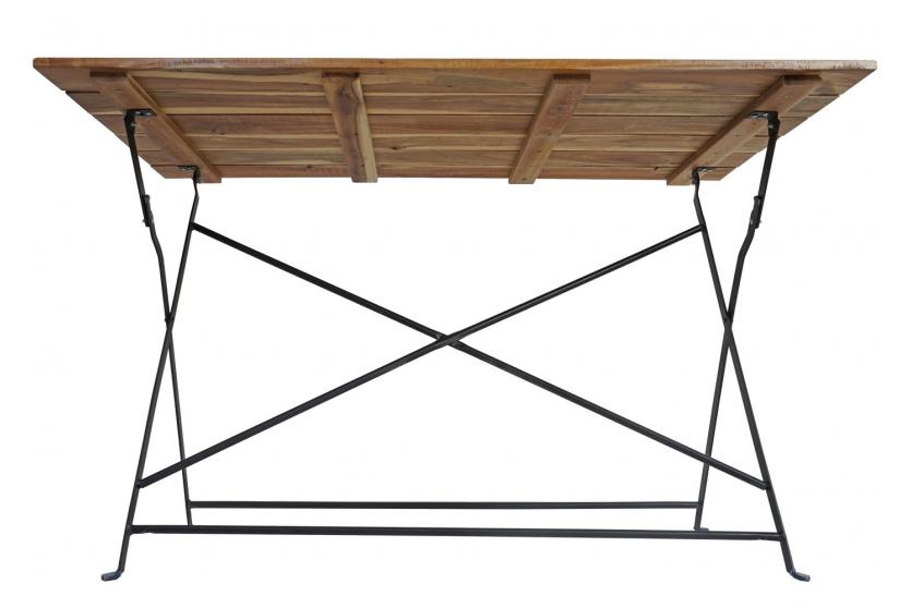 gartentisch graz biergartentisch klapptisch akazie ge lt 75x120x60cm natur ebay. Black Bedroom Furniture Sets. Home Design Ideas