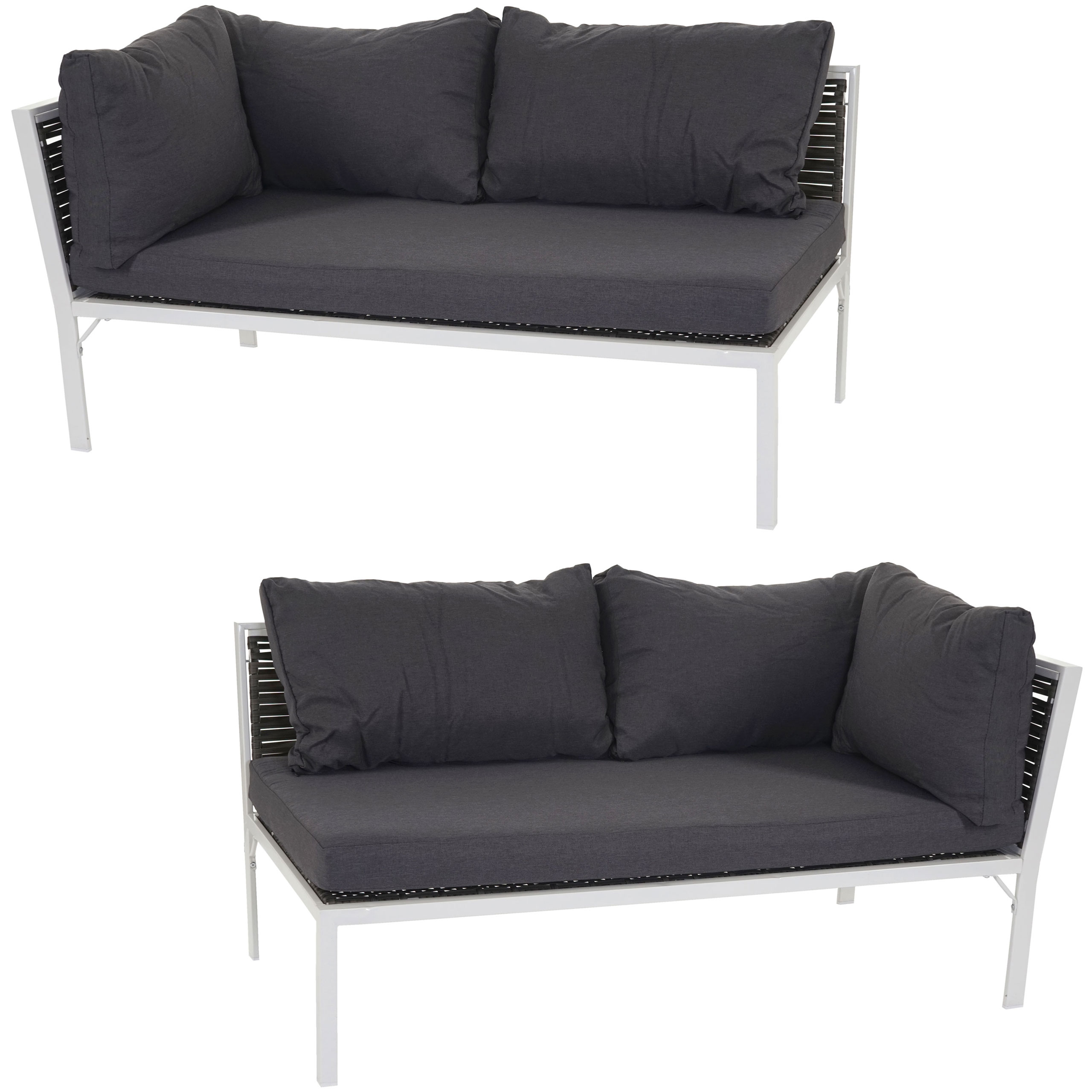 poly rattan sofa delphi loungesofa couch alu kissen anthrazit. Black Bedroom Furniture Sets. Home Design Ideas