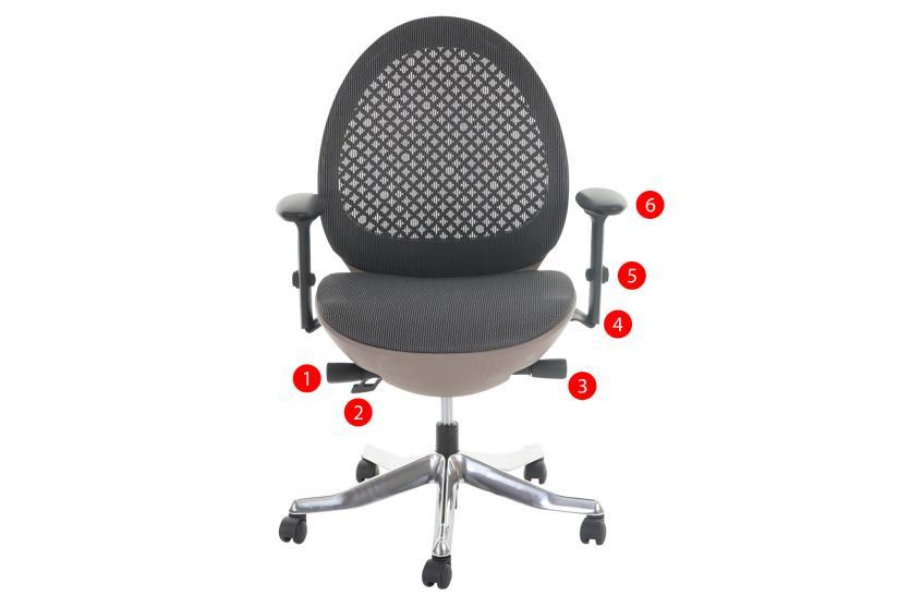 profi b rostuhl rapla polster netz ergonomisch schwarz grau schale taupe ebay. Black Bedroom Furniture Sets. Home Design Ideas