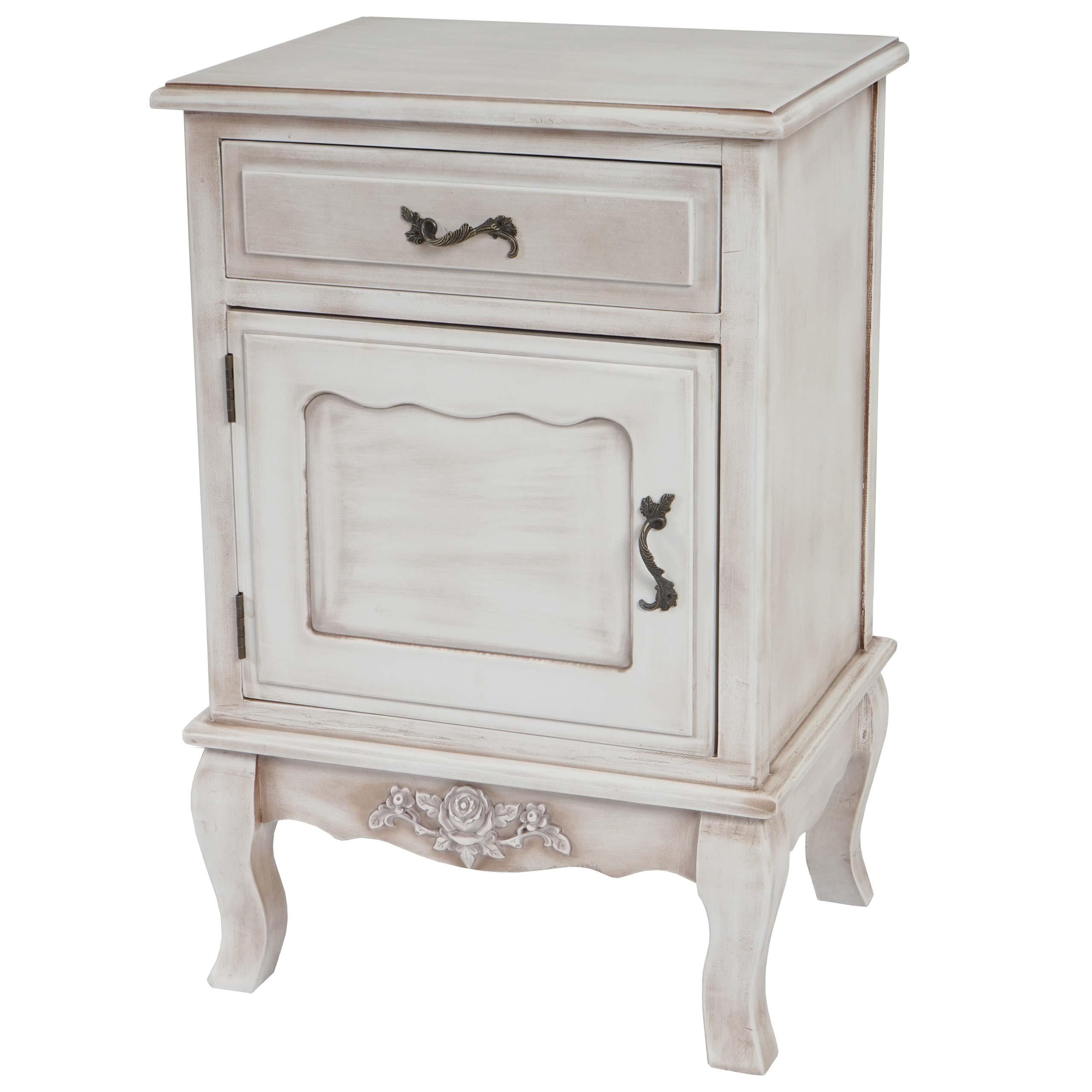 kommode valence h432 barock antik 69x46x36cm wei antik schrank nachttisch ebay. Black Bedroom Furniture Sets. Home Design Ideas