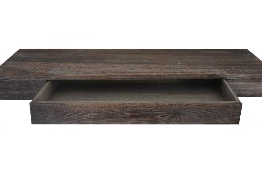 wandregal oise regal h ngeregal 80cm schublade braun shabby ebay. Black Bedroom Furniture Sets. Home Design Ideas