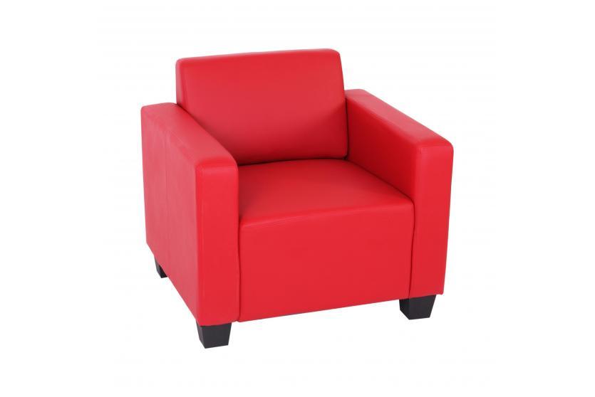 modular sessel loungesessel lyon kunstleder rot. Black Bedroom Furniture Sets. Home Design Ideas